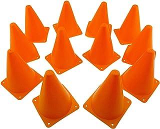 Tytroy Set of 12 Orange 7 inch. Sport Outdoor Indoor Training Traffic Safety Soccer Football Sport Activity Cones
