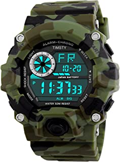 Timsty Digital Sports Boys Watch Waterproof Military...