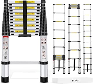 Yesker 12.5ft Telescoping Ladder Aluminum Telescopic Extension Multi Purpose Ladders..