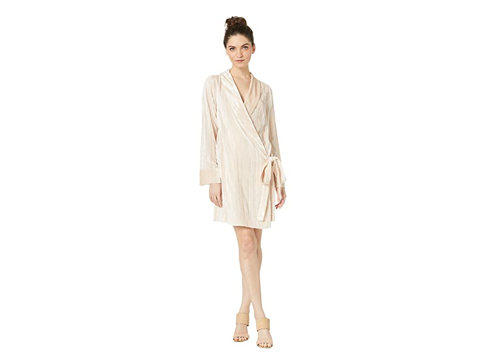 BCBGMAXAZRIA Short Soft Knit Wrap Dress (Almond Pink) Women