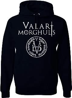 Freedomtees GOT Valar Morghulis All Men Must Die Unisex Hooded Sweatshirt - Black New
