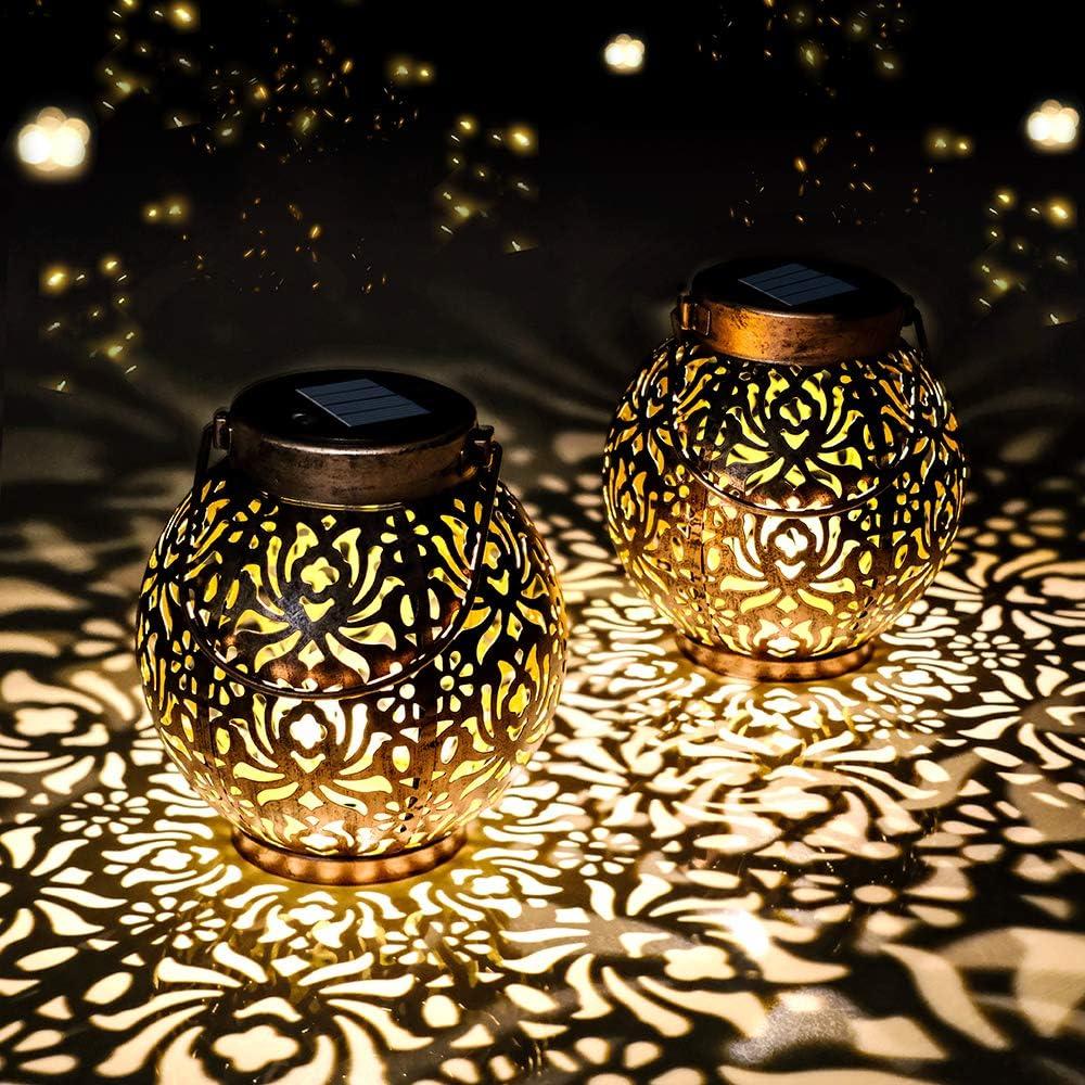 Waterproof Solar Lantern Outdoor Ranking TOP18 2 Hanging Pack Decorati Lights Max 63% OFF