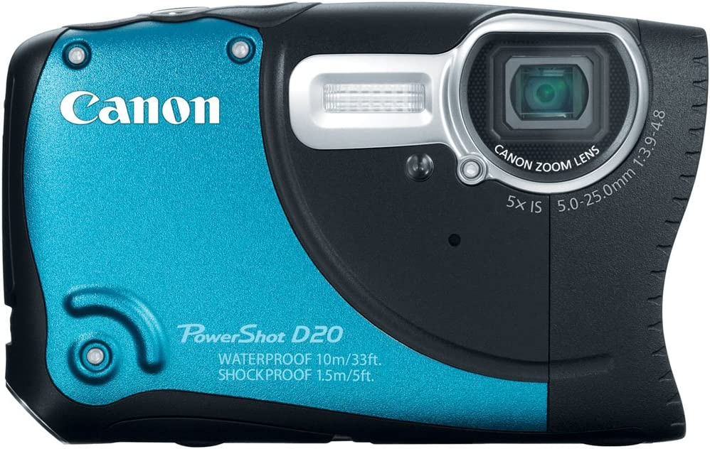 Canon PowerShot Fashionable D20 12.1 MP OFFicial shop Camera Digital Waterproof CMOS with