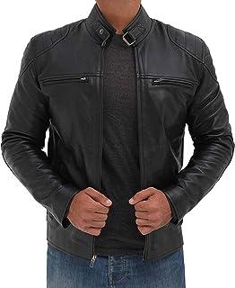جاكت رجالي من Fjackets Motorcycle Jackets للرجال - جلد خراف حقيقي جاكيت رجالي