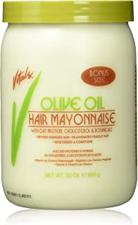 Sponsored Ad - Vitale Olive Oil Hair Mayonnaise 30oz with Oat & Egg Protein and Vitamins - Good on Color & Thermal Treated...