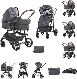 Chipolino 2-i-1 barnvagn Adora 22 kg aluminiumram sportsits bärväska, färg: grå