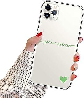 Suhctup Personalizzata Cover per iPhone 12 Mini Custodia in TPU con Cuore Testo Personalizzabili Regalo Case Ultra Sottile...