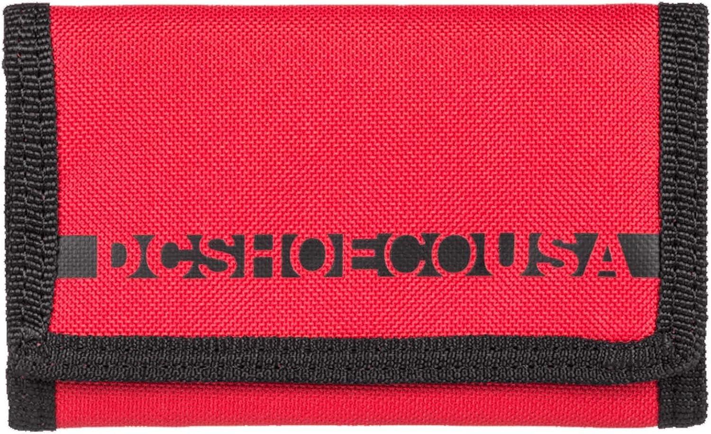 DC Apparel Men's Ripstop 2 Wallet, RACING RED