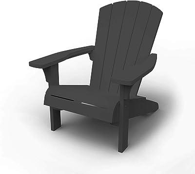 Keter Troy Adirondack Chaise de Jardin, Anthracite