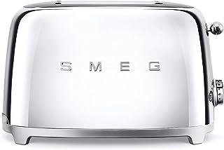 Smeg TSF01SSEU Grille-pain, Métal, Argenté