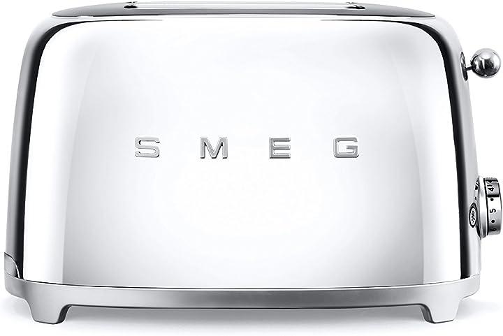 Tostapane smeg tsf01sseu acciaio inossidabile 2 scomparti cromo TSF01SSEU