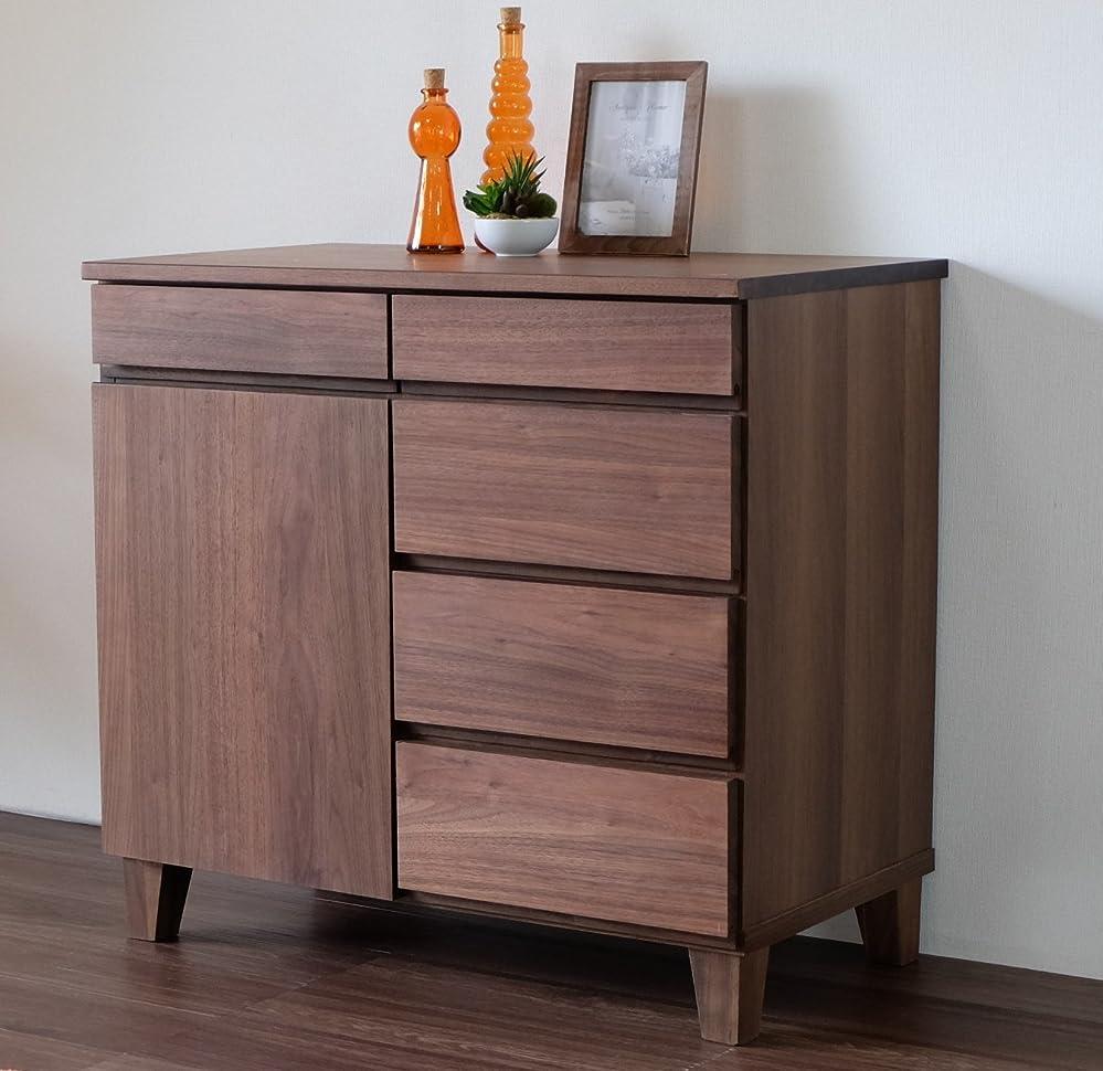 大脳ケント植生ISSEIKI サイドボード【完成品】リビングキャビネット ブラウン 幅80cm ベーシック 飽きの来ないデザイン 木製家具 BASK SB 80 (WALNUT) 北欧家具 インテリア