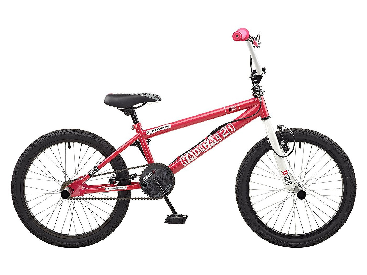 Gallo Radical 20 BMX Bicicleta Color Rosa/Blanco (con protección ...