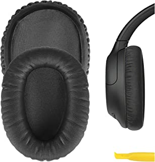 Geekria QuickFit Protein Leather Ear Pads for Sony WH-CH700N, WH-CH710N, Headphones Replacement Earpads/Ear Cushion/Ear Cu...