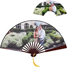 dytinina Hand Held Folding Fans Custom Photo Personal Hand Held Folding Fans- Chinese/Japanese/Retro Style for Decorating Home