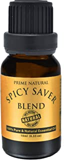 Spicy Saver Essential Oil Blend 10ml - Pure Undiluted Therapeutic Grade for Aromatherapy, Scents & Diffuser, Health, Immun...