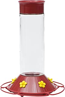 Perky-Pet 209B Our Best Glass Hummingbird Feeder, Red, 30 OZ