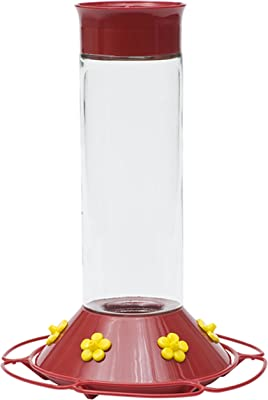 Perky-Pet 209B Our Best Glass Hummingbird Feeder, Red, 30 OZ