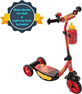 Huffy Kids Preschool Scooter for Boys Disney Pixar Cars & Toy Story, Star Wars, Marvel Spider-Man, 3 Wheel Toy
