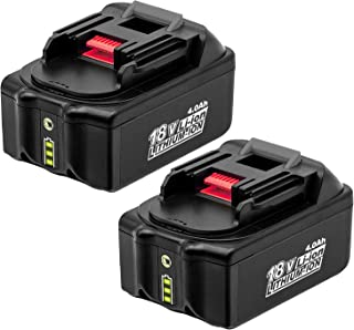 2-Pack 4.0Ah 18V BL1840 Battery with Led Indicator Compatible with Makita 18V BL1830B BL1860B BL1840B BL1815 LXT-400