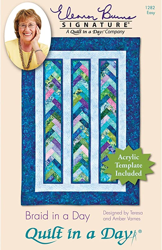 Amazon.com: Quilt in a Day Eleanor Burns Patterns, Braid in a Day