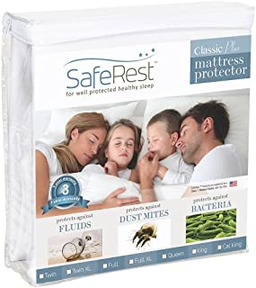King Size SafeRest Classic Plus Hypoallergenic 100% Waterproof Mattress Protector - Vinyl Free