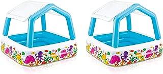 Intex 5.2ft x 5.2ft x 48in Inflatable Ocean Scene Sun Shade Kids Pool (2 Pack)