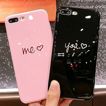 Cover iPhone 6S,Cover iPhone 6,ikasus 2pcs ragazzi ragazze coque riflessivo flessibile Cover Custodia Gel Morbida Silicone Sottile TPU Protettiva ...