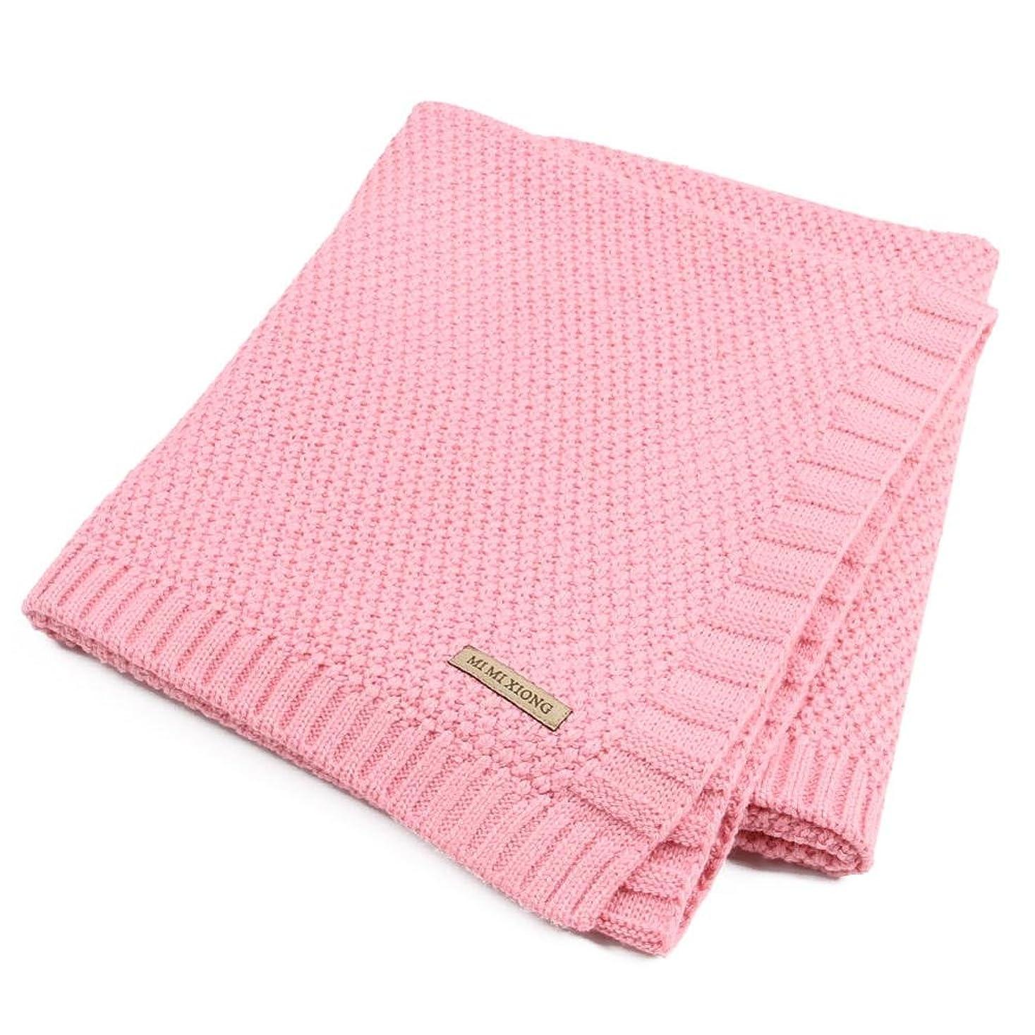 人差し指で出来ている保証金毛布 ニットブランケット ベービー 北欧 洗える 軽量 柔らかい 子供 ベビー毛布 冷房対策 通年使用 100×80cm