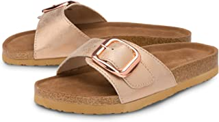 Dunlop Ladies Womens Sandals Slip On Open Toe Buckle Holiday Sliders Sizes 3-8