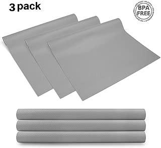 3 Rolls EVA cabinet liner, Non-slip Shelf Liners for kitchen Cabinets, Waterproof Cupboard Drawer Cushion Mats, DIY Multipurpose Antifouling Pads,17.7