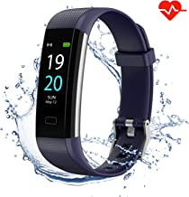 Akasma Fitness Tracker HR, S5 Activity Tracker Watch with Heart Rate Monitor, Pedometer IP68 Waterproof Sleep Monitor Step Counter for Women Men