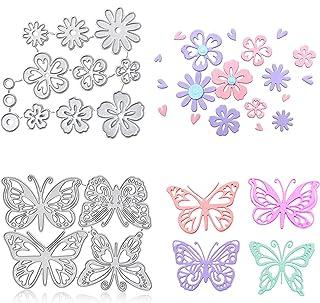 Keleily Scrapbooking Dies,15pièces Matrice Découpe Scrapbooking Fleur métal coupe matrices ensemble Fleur forme papillon D...