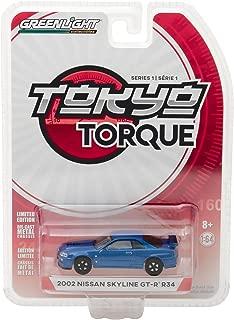2002 Nissan Skyline GT-R R34 Bayside Blue Tokyo Torque Series 1 1/64 Diecast Model Car by Greenlight 29880 E