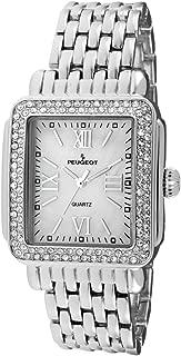 Rectangle Deco Crystal Bezel Bracelet Dress Watch