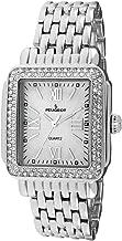 Peugeot Rectangle Deco Crystal Bezel Bracelet Dress Watch
