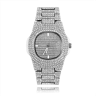 Hip Hop Jewelry Iced Out Watch and Simulated Diamond Quartz Watches for Men