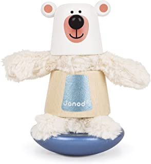 Janod Zigolos Bear Stacker & Rocker Baby Toy
