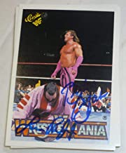 Brutus Beefcake Genius Lanny Poffo Signed 1990 Classic WWE Wrestlemania WWF Card - Autographed Wrestling Cards