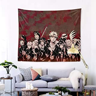 """UNIVEINS Naruto Anime Home Decoration Wall Art Tapestry for College Dormitory Living Room Bedrooms (60""""x51"""")"""