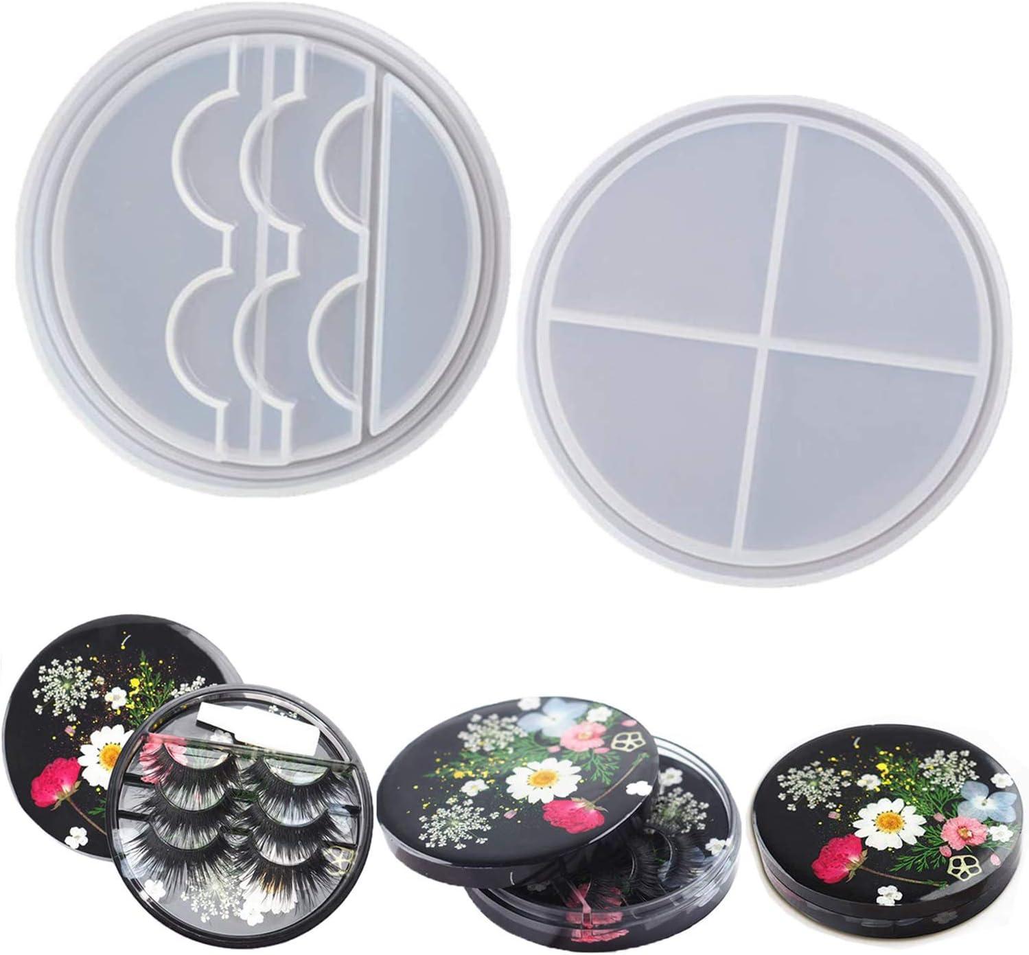 Eyelash Storage Box Resin Elegant Mold Cosmetic Case Lid Eye Round with Al sold out.