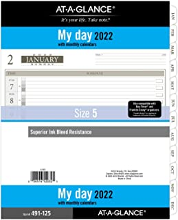 "$30 » 2022 Daily Planner Refill by AT-A-GLANCE, 14010 Day-Timer, 8-1/2"" x 11"", Size 5, Folio Size, One Page per Day, Loose-Leaf ..."