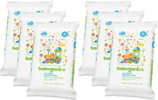 Babyganics Toy, Table & Highchair Wipes, 25 Count, 6 Pack