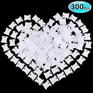 300 Pcs Plastic Floss Bobbins for Embroidery Floss Organizer, Cross-Stitch Bobbins Card Thread Holder, Craft DIY Sewing Storage