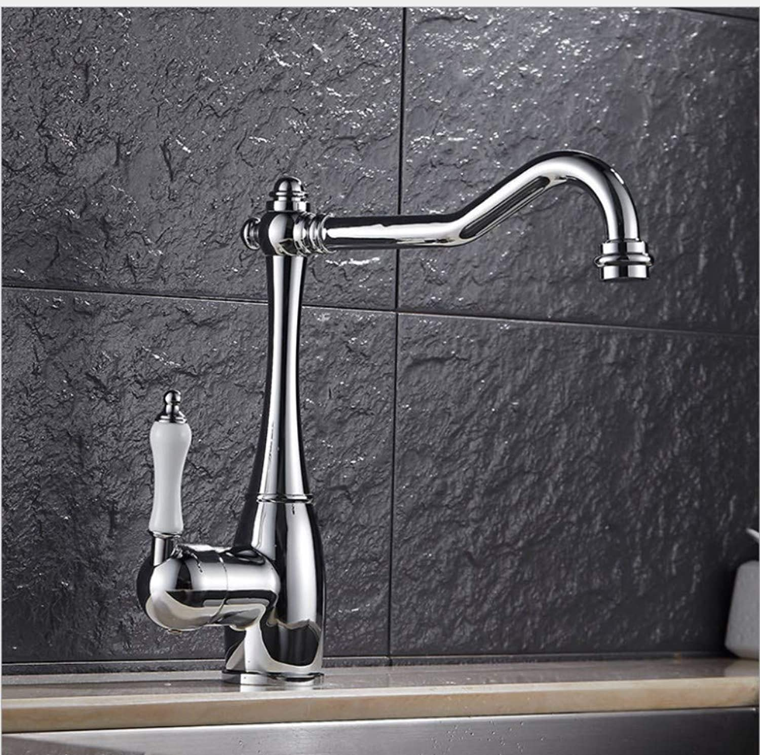 Bathroom Sink Basin Lever Mixer Tap European Kitchen Faucet redary Tank, Vegetable Washing Tank, Cold and Hot Water Faucet