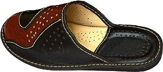 BeComfy Chaussures en Cuir pour Homme Chaussons Mules en Veritable Cuir Resistance de Materiaux Coloris Disponibles Noir M...