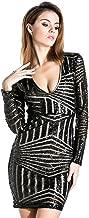 Best v neck long sleeve sequin dress Reviews