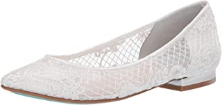 Blue by Betsey Johnson Women's SB-Lacey Ballet Flat, ivory, 10 M US