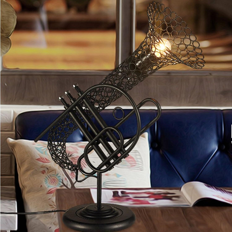 Vintage Handwerk Saxophon Lampe Loft Schlafzimmer Thema Lampe Studie Restaurant Café Tischlampe B07C7D51Z1     | Verkauf Online-Shop