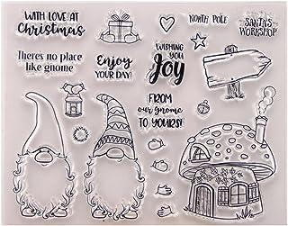 Tampons en silicone transparents, joyeux Noël nain en silicone transparent pour scrapbooking, scrapbooking, décoration de ...